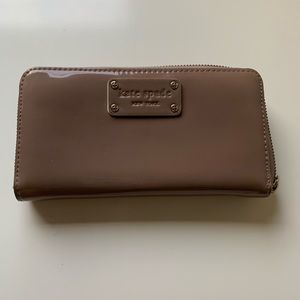 kate spade mauve continental wallet